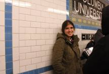 Jessica Karch in NYC subway